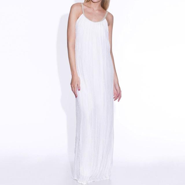 Robe longue blanche la redoute