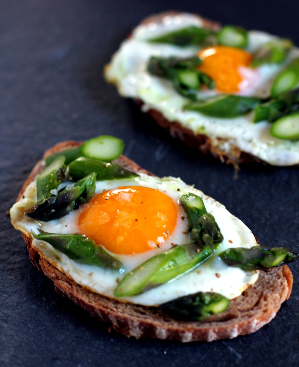Egg and Asparagus Toasts