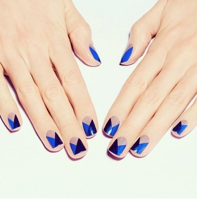 photo nail art bicolore
