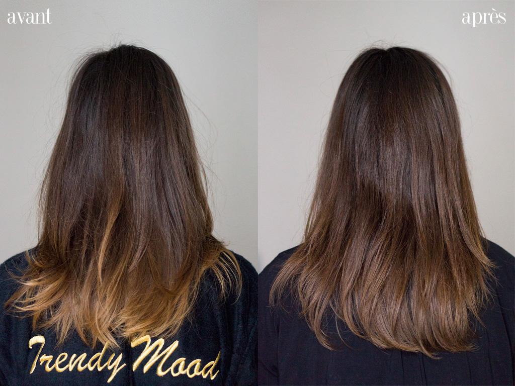 Coloration ton sur ton cheveux abimes