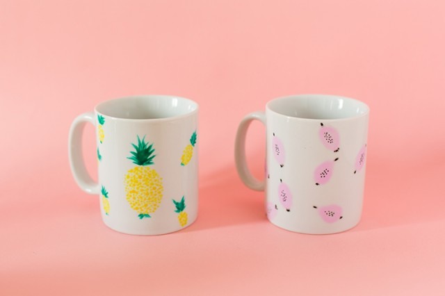 DIY mugs fruités