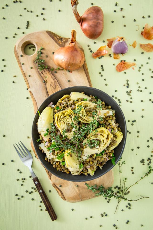 Artichoke-Lentil-Salad