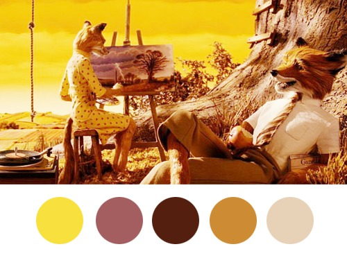 Wes Anderson Palettes 1