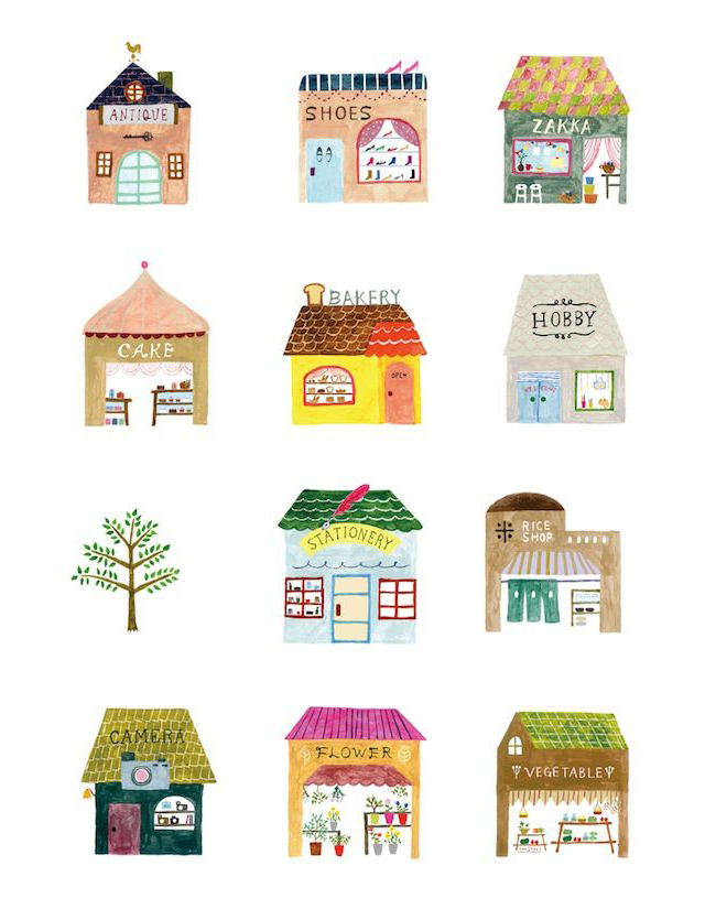Une semaine sur pinterest 15 illustrations trendy mood for Drawing of small house