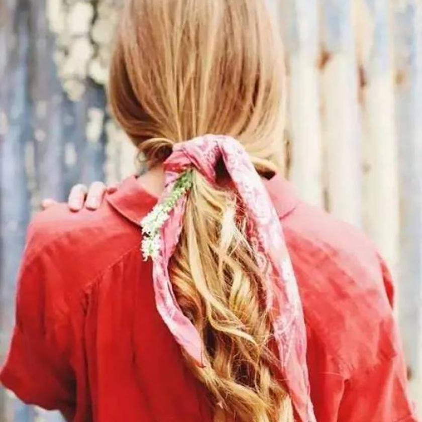 Foulard été ponytail