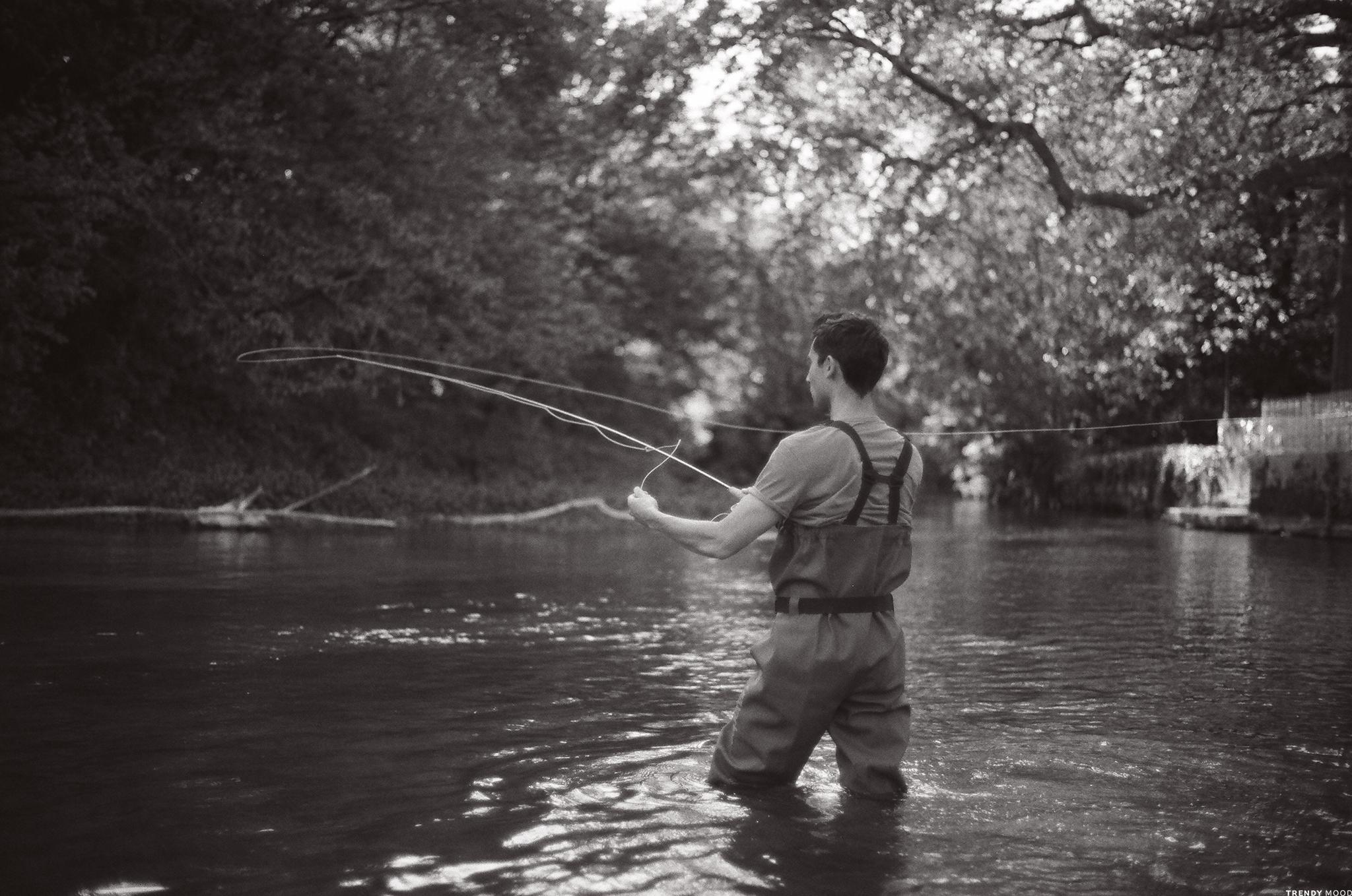 Photographie Nikon FM2 - Pêche à la mouche en Charente