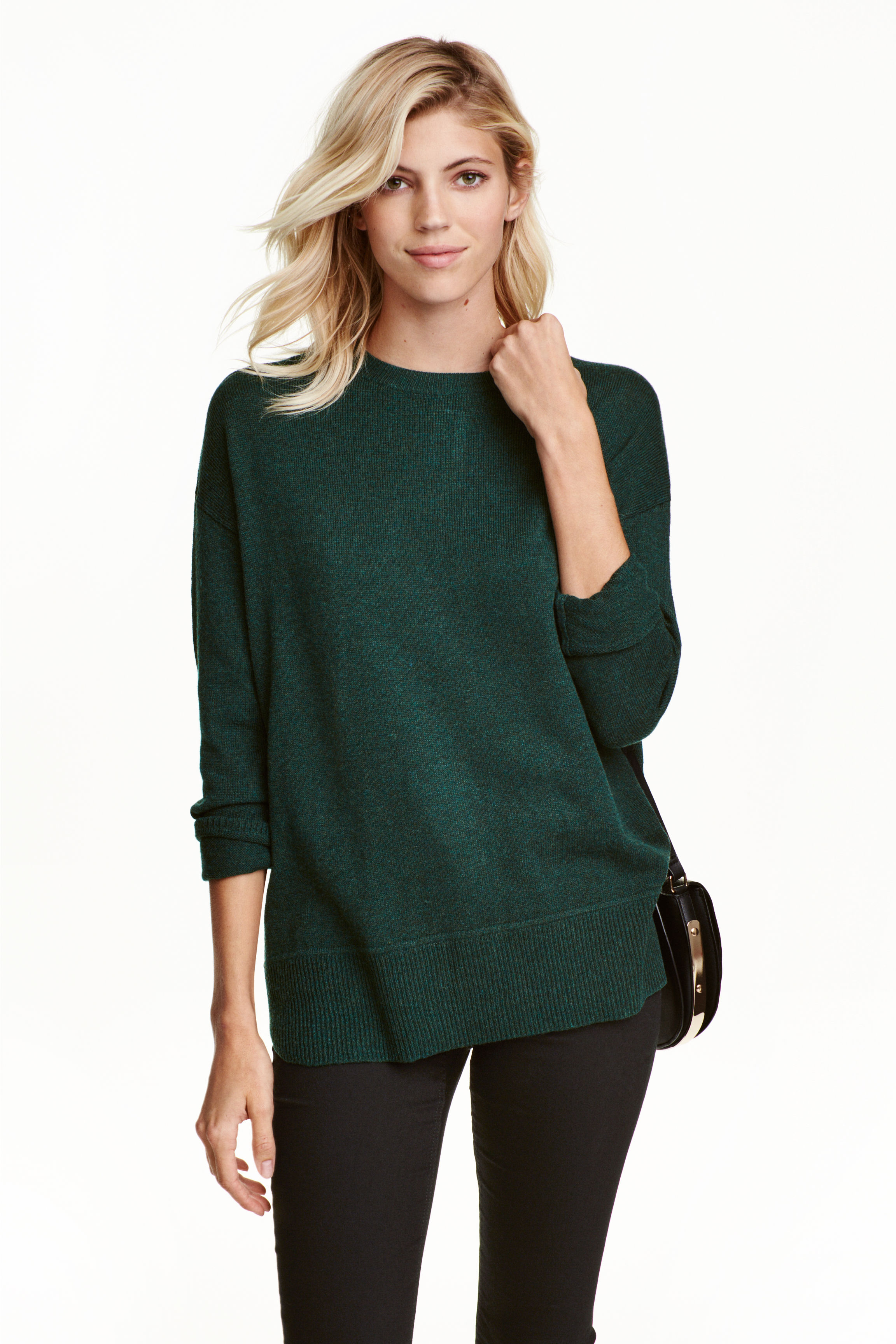 pull-maille-fine-vert-sapin-conscious