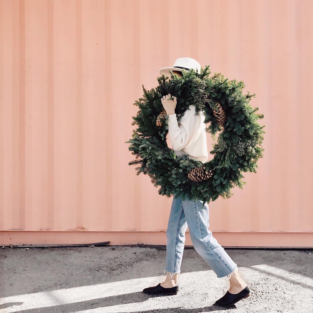 Couronne de Noël - Eslee