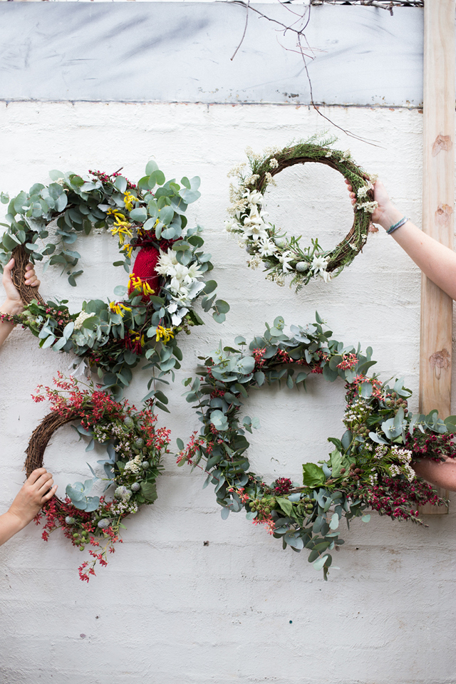 a natural Christmas Wreath