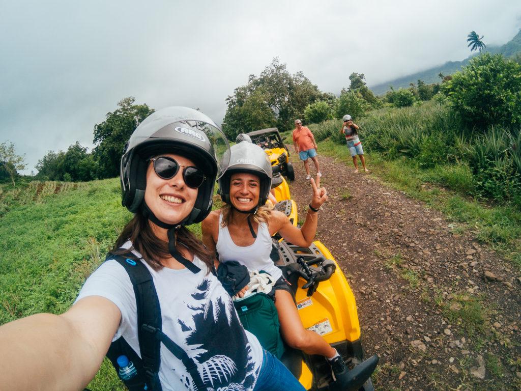 Voyage à Tahiti - Moorea - Quad - Selfie