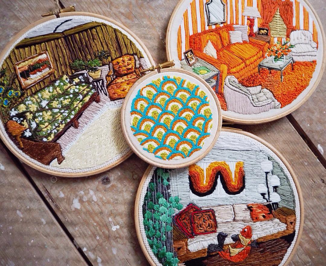 Hoop art : Used Threads Embroidery