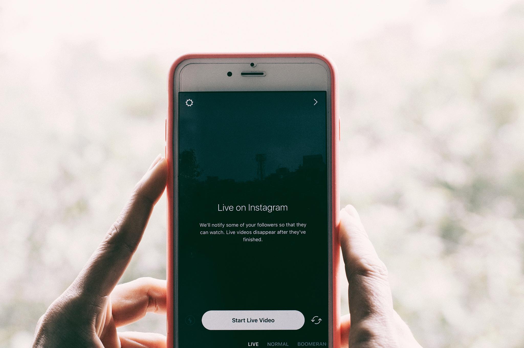 Live on Instagram : Limiter les réseaux sociaux