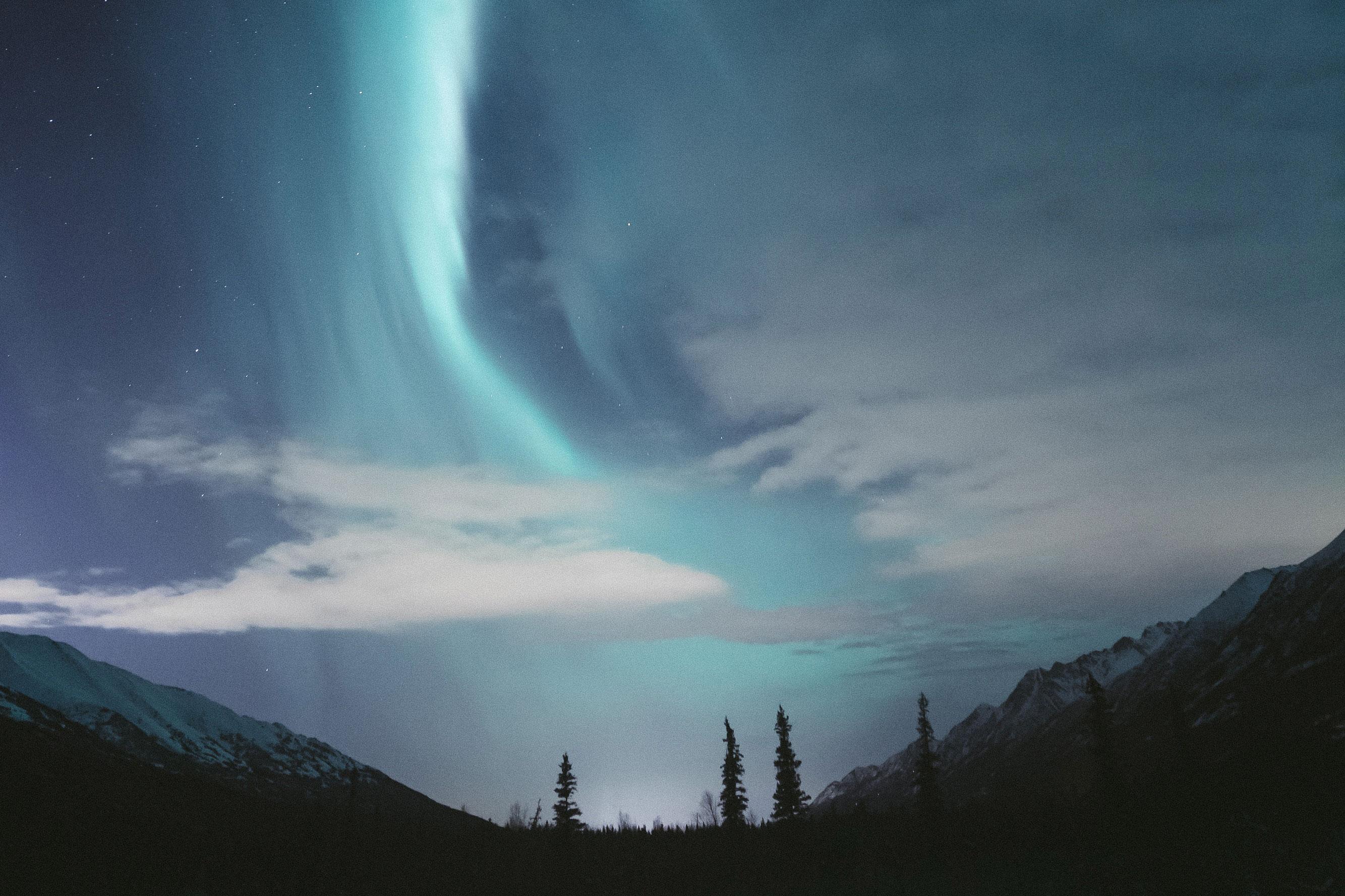 Alaska - Aurore boréale - HB Mertz - Eagle River Nature Center, Anchorage, United States