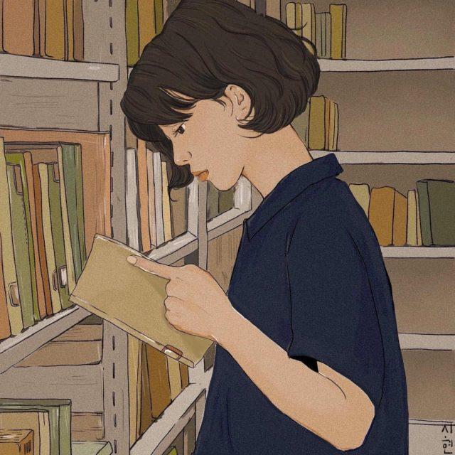 Friday Illustration #2 : Bibliothèque