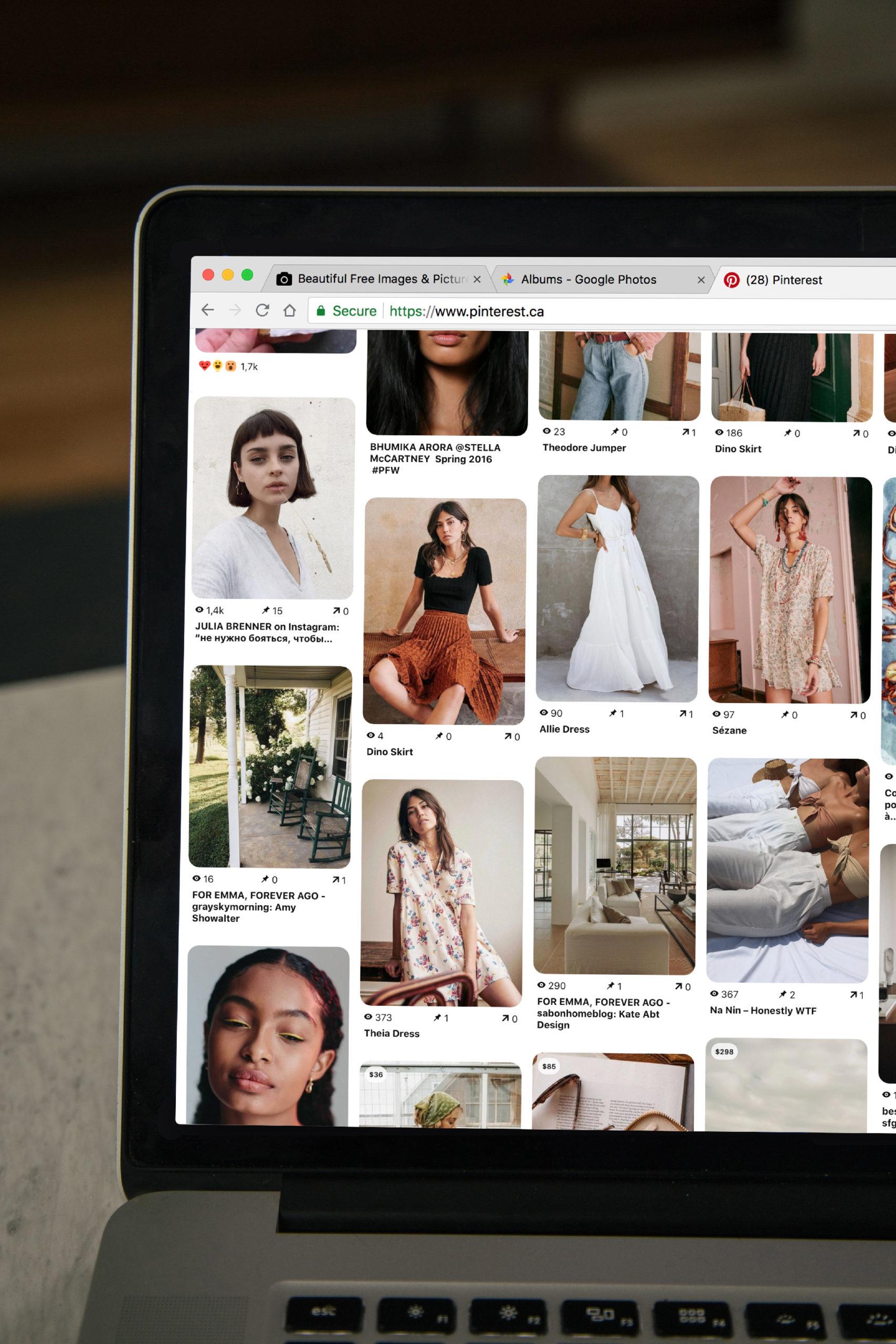 Home Page de Pinterest